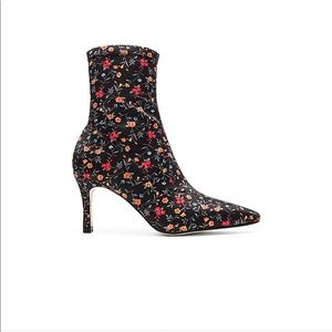 Mini Floral Skinny Ankle Point Toe Booties